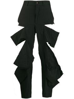 Comme Des Garçons укороченные брюки с эффектом потертости