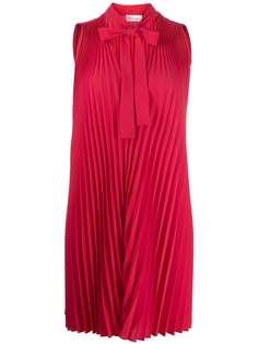 RedValentino плиссированная блузка с бантом