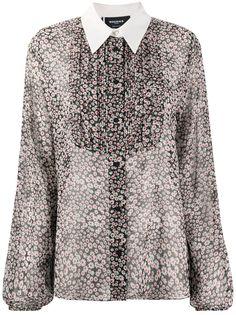 Rochas рубашка с рукавами колокол и с цветочным принтом