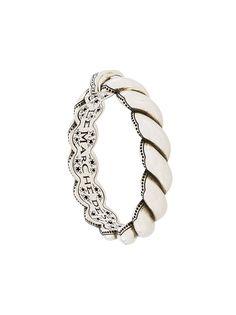 Gucci плетеный браслет с гравировкой