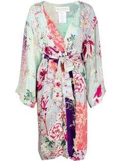Etro пальто-кимоно с цветочным принтом