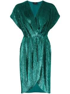 Elisabetta Franchi коктейльное платье с запахом и пайетками