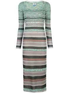 M Missoni трикотажное платье макси в полоску
