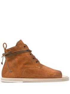 Marsèll ботинки на шнуровке с открытым носком