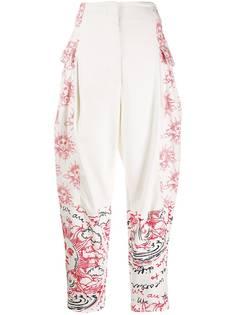 Stella McCartney зауженные брюки с принтом