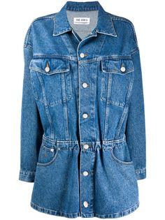 The Attico джинсовое платье-рубашка