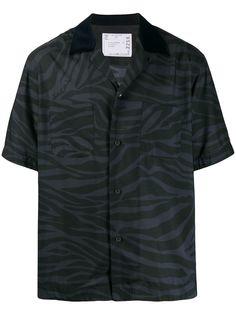 Sacai рубашка с короткими рукавами и анималистичным принтом