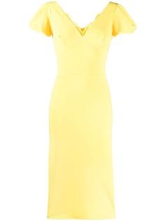 Ermanno Scervino приталенное платье с кружевными вставками