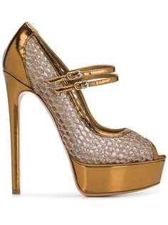 Casadei туфли-лодочки с сетчатой вставкой