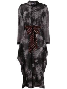 Comme Des Garçons Comme Des Garçons платье-рубашка с абстрактным принтом