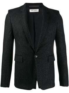 Saint Laurent пиджак строгого кроя в тонкую полоску