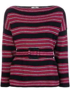 Fendi свитер в полоску с длинными рукавами
