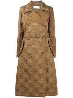 Chloé пальто с поясом и цветочным узором