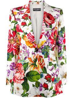 Dolce & Gabbana блейзер с цветочным принтом