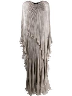 Irina Schrotter вечернее платье с жатым эффектом