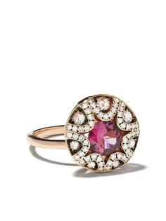 Selim Mouzannar золотое кольцо Mille et Une Nuits с бриллиантами и родолитом