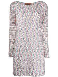 Missoni трикотажное платье с длинными рукавами