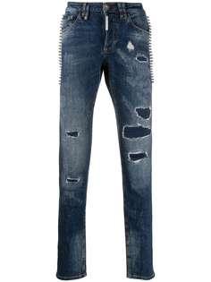 Philipp Plein джинсы Destroyed прямого кроя
