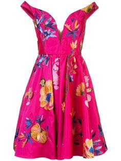 Marchesa коктейльное платье с открытыми плечами