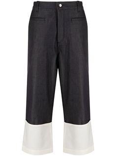 Loewe джинсы широкого кроя с подворотами
