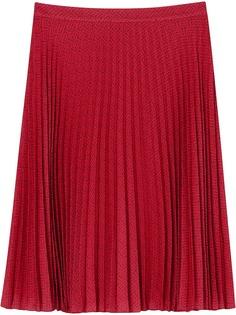 Burberry плиссированная юбка с монограммой