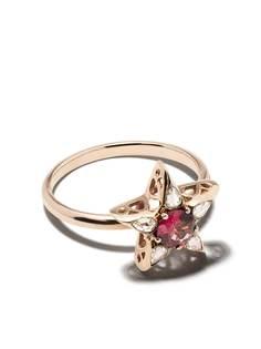 Selim Mouzannar золотое кольцо Star с бриллиантами и родолитом