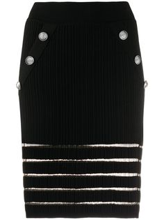 Balmain трикотажная юбка