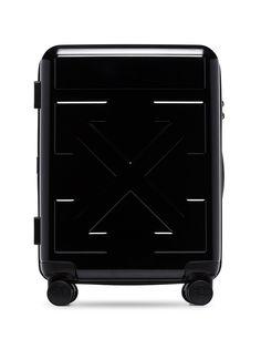 Off-White чемодан с логотипом