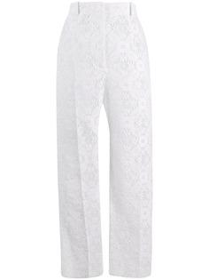 Alexander McQueen зауженные брюки Endangered из цветочного кружева