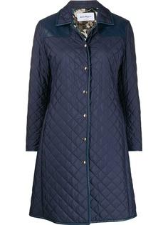 Salvatore Ferragamo стеганое пальто миди