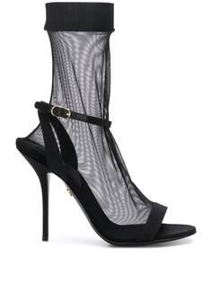 Dolce & Gabbana прозрачные босоножки-носки на шпильке