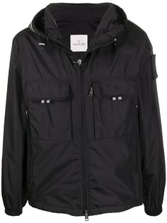 Moncler легкая куртка с капюшоном