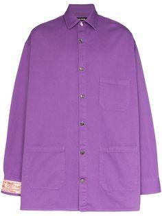 Raf Simons джинсовая рубашка Big Fit