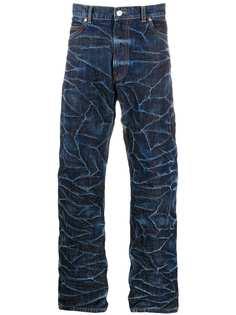 Martine Rose джинсы с жатым эффектом