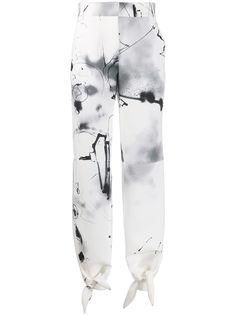 Off-White зауженные брюки Futura