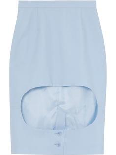 Burberry юбка-карандаш с вырезом