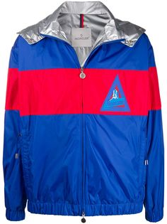 Moncler куртка оверсайз в стиле колор-блок