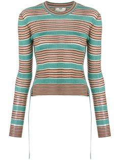 Fendi приталенный свитер в полоску