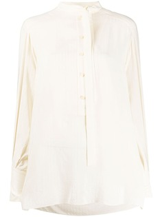 Chloé полосатая блузка с завязками