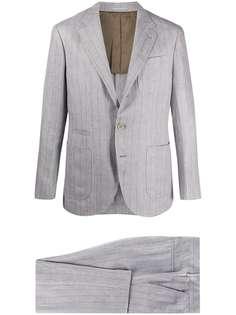 Brunello Cucinelli костюм с однобортным пиджаком в полоску