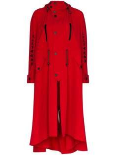 Angel Chen пальто Toko Fuku асимметричного кроя с вышивкой