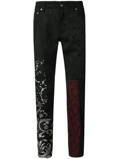 Dolce & Gabbana брюки с кружевными вставками