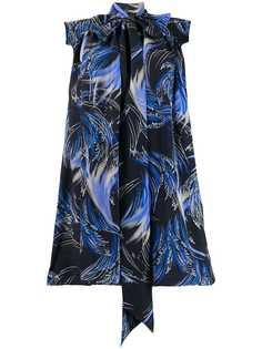 Givenchy платье с узлом и принтом