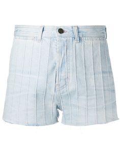 Saint Laurent джинсовые шорты с завышенной талией