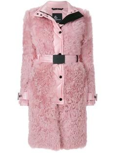 Moncler Grenoble пальто из овчины со стеганой отделкой