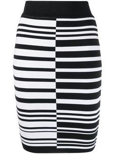 Balmain юбка-карандаш в полоску
