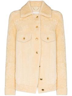 Chloé пальто-рубашка из овчины