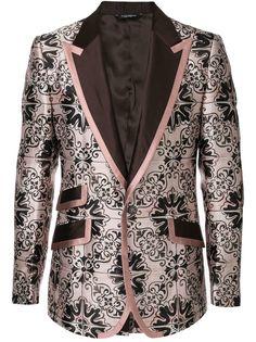 Dolce & Gabbana жаккардовый пиджак с узором Maiolica