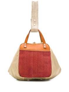 Marni сумка-тоут с сетчатыми вставками