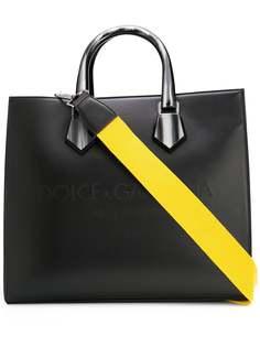 Dolce & Gabbana сумка-тоут с тисненым логотипом